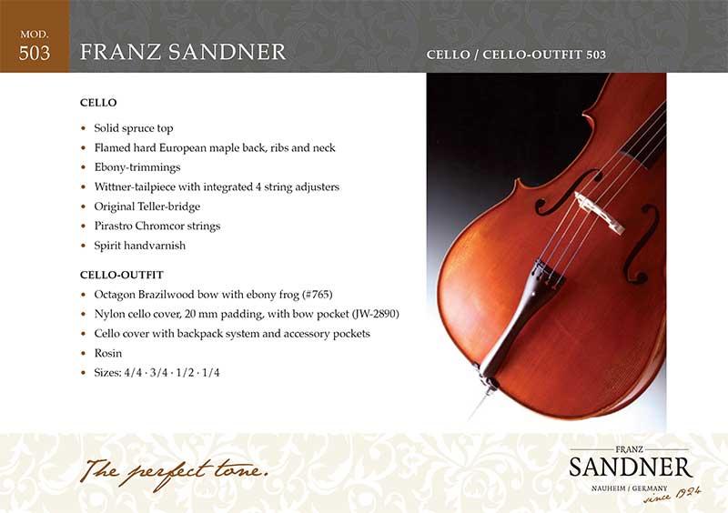 Franz Sandner צ'לו דגם 503 תוצרת גרמניה