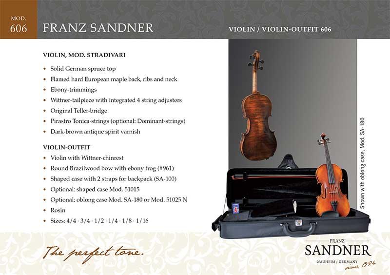 Franz Sandner כינור דגם 606 תוצרת גרמניה